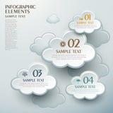 抽象云彩形状infographics 库存图片