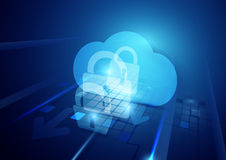 抽象互联网安全和安全技术概念 免版税图库摄影