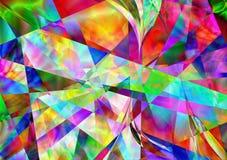 抽象五颜六色几何 免版税库存图片