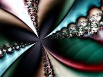 抽象五颜六色分数维空转 免版税库存图片