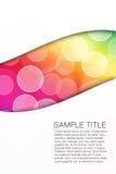 抽象五颜六色泡影背景。 库存照片