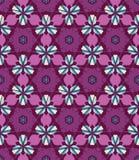 抽象五颜六色的万花筒无缝的样式 几何花卉传染媒介背景 马赛克坛场图形设计样片 向量例证