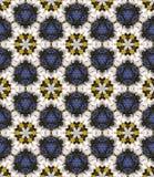 抽象五颜六色的万花筒无缝的样式 几何花卉传染媒介背景 马赛克坛场图形设计样片 库存例证