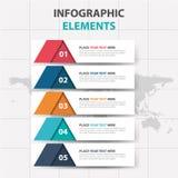 抽象五颜六色的三角标签企业时间安排Infographics元素,介绍模板平的设计传染媒介例证 库存例证