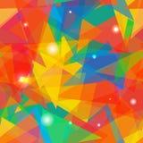 抽象五颜六色的三角背景 向量 免版税库存图片