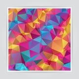 抽象五颜六色的三角背景 库存照片
