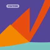 抽象五颜六色的三角 免版税库存图片