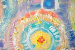抽象五颜六色的丙烯酸酯的绘画 画布 难看的东西背景 刷子冲程纹理单位 艺术性的背景 库存照片