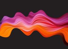 抽象五颜六色的传染媒介背景,设计小册子的,网站,飞行物颜色流程液体波浪 向量例证