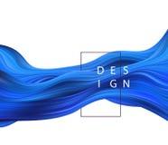 抽象五颜六色的传染媒介背景,颜色流程液体波浪 皇族释放例证