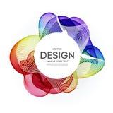 抽象五颜六色的传染媒介背景,颜色设计小册子的,网站,飞行物流程波浪 皇族释放例证