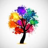 抽象五颜六色的例证结构树 免版税库存图片