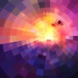 抽象五颜六色的光亮的圈子隧道背景 库存照片