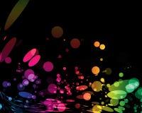 抽象五颜六色的光 库存照片