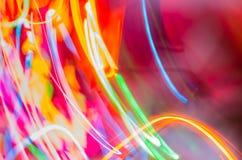 抽象五颜六色的光 图库摄影