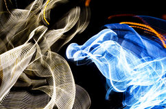 抽象五颜六色的光 库存例证