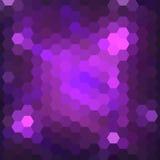 抽象五颜六色的六角形背景 免版税库存图片