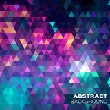 抽象五颜六色的几何三角背景 免版税图库摄影