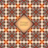 抽象五颜六色的几何无缝的样式 花卉背景纹理 库存图片