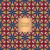 抽象五颜六色的几何无缝的样式 花卉背景纹理 免版税库存图片