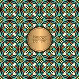 抽象五颜六色的几何无缝的样式 花卉背景纹理 免版税图库摄影