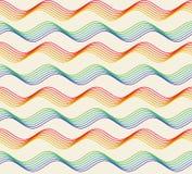 抽象五颜六色的几何无缝的样式 库存例证