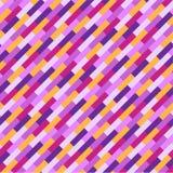 抽象五颜六色的几何样式,桃红色,紫色和橙色条纹 皇族释放例证