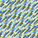抽象五颜六色的几何样式,蓝色和黄色条纹 向量例证