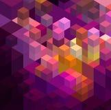 抽象五颜六色的几何背景 免版税库存照片