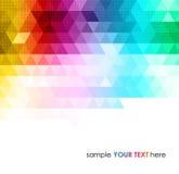 抽象五颜六色的几何背景 免版税库存图片