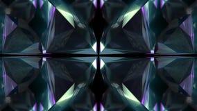 抽象五颜六色的几何水晶玻璃或镜子形状行动图表背景纹理样式的无缝的动画 皇族释放例证