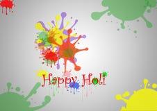 抽象五颜六色的印地安节日愉快的Holi背景的例证 图库摄影