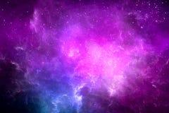 抽象五颜六色的发光的星系在空间背景中 库存例证