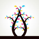 抽象五颜六色的叶子结构树 库存图片