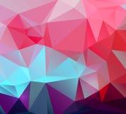抽象五颜六色的向量 三角几何 图库摄影