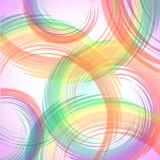 抽象五颜六色的回合背景 免版税库存照片