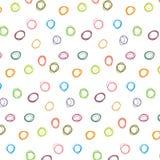 抽象五颜六色的圆点样式传染媒介 免版税图库摄影