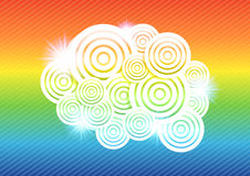 抽象五颜六色的圈子背景传染媒介例证 库存图片