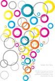 抽象五颜六色的圈子背景 免版税库存照片