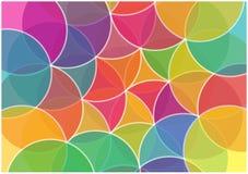 抽象五颜六色的圈子背景 免版税图库摄影