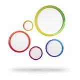 抽象五颜六色的圈子 图库摄影