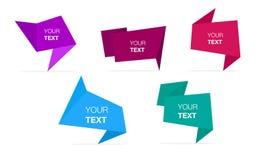 抽象五颜六色的多角形元素大模型 免版税库存照片