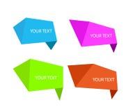抽象五颜六色的多角形元素大模型 免版税库存图片