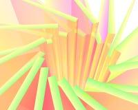 抽象五颜六色的太阳爆炸 库存照片