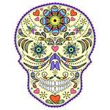 抽象五颜六色的头骨 免版税库存图片