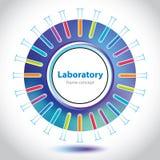 抽象五颜六色的实验室圈子元素 免版税库存照片