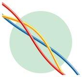 抽象五颜六色的导线 免版税库存照片