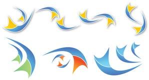 抽象五颜六色的形状 库存照片