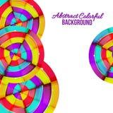 抽象五颜六色的彩虹曲线背景设计。 库存图片