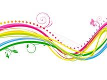 抽象五颜六色的彩虹线波浪背景 免版税库存图片
